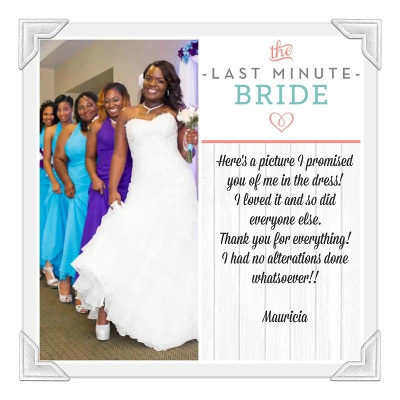 The Last Minute Bride, USA, Vacaville, Dress & Attire